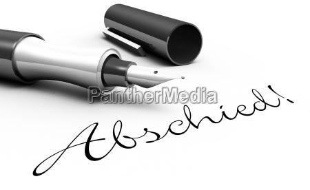 farewell pen concept