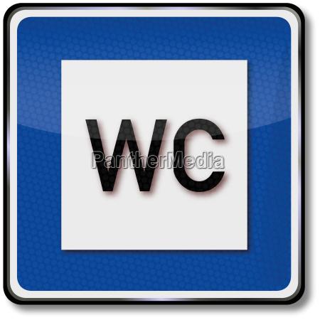 traffic sign toilet
