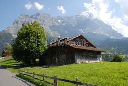 cabin in front of the eiger