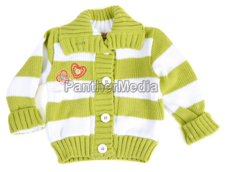 baby sweater striped with green strip