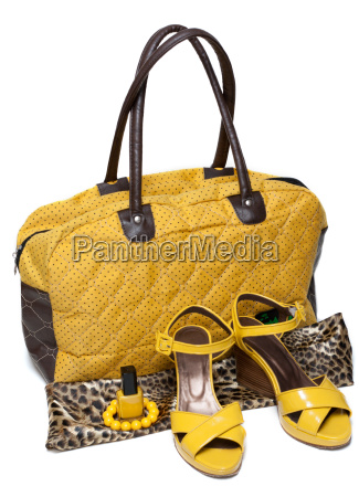 feminine bag and pair yellow feminine
