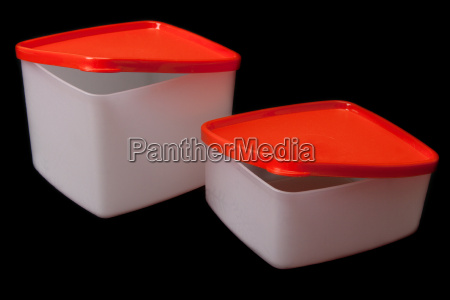 plastic containers with red lid