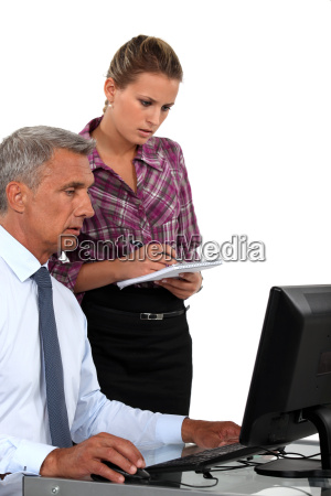 a boss and his secretary at