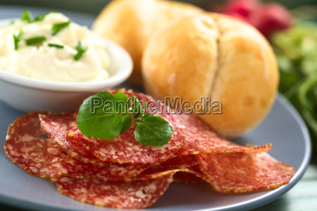 food aliment salami cold cuts meat