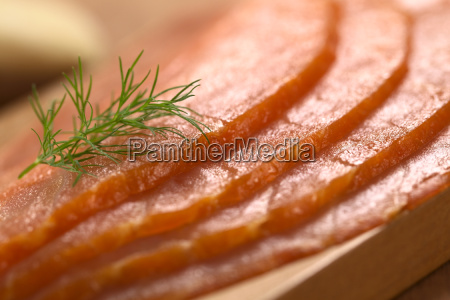fish delicacy salmon smoked smoke dill