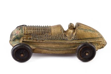 antique toy racing car