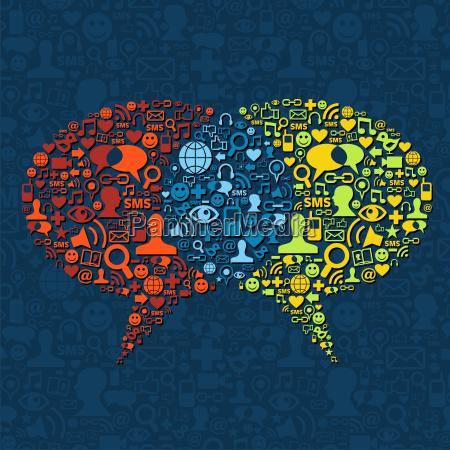 social media speech bubble interaction