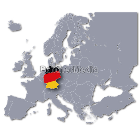 map of europe germany