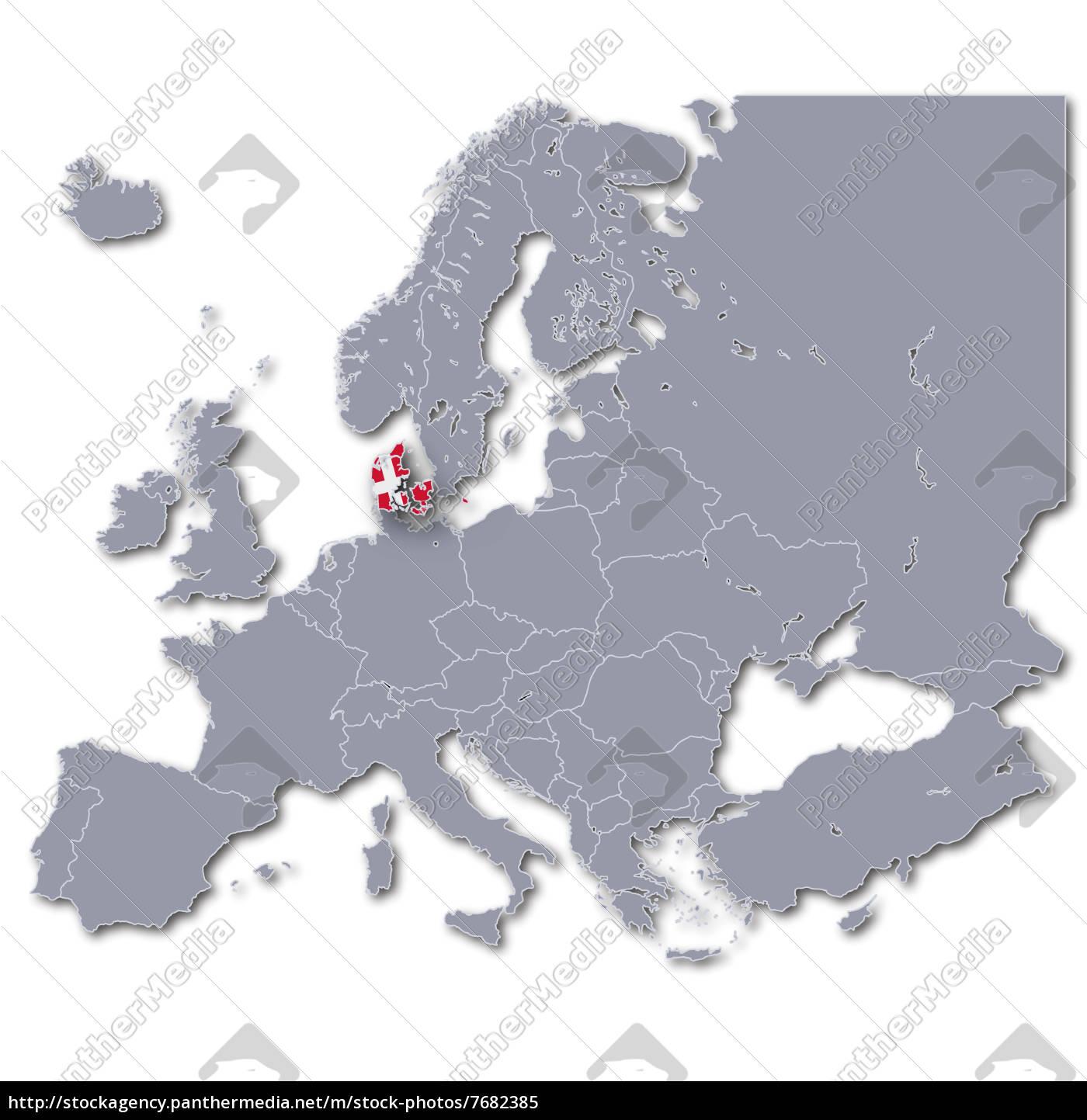 Royalty free image 7682385 - europe map denmark