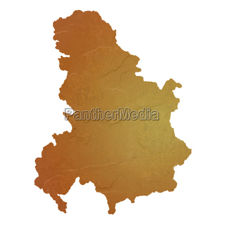 textured map of serbia and montenegro
