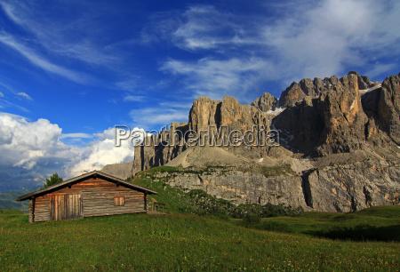mountains alps mountain shelter mountain scenery
