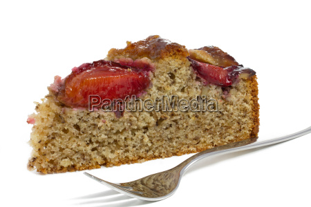 homemade plum cake with nuts