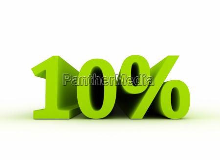 10 percent sale symbol 3d