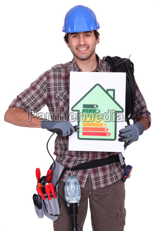 smiling electrician