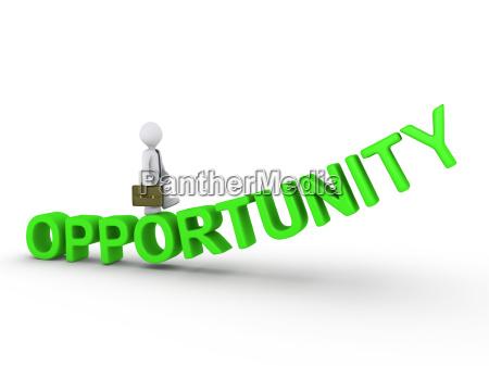 businessman walking on opportunity