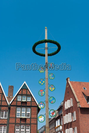 maypole in munster germany