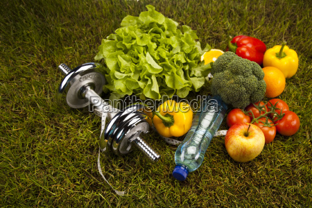 vitamin and fitness diet dumbell in