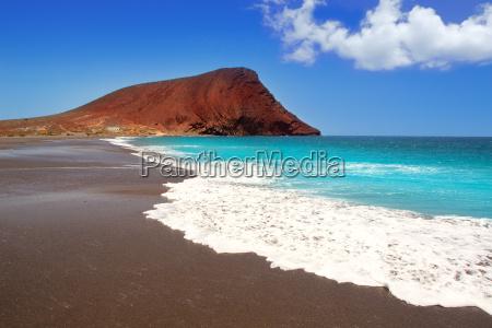 beach playa de la tejita in