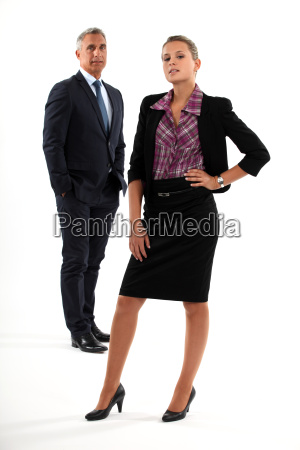 boss stood with personal assistant