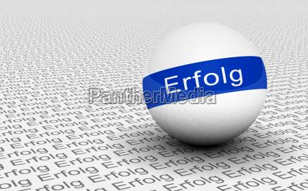 3d ball text concept blue