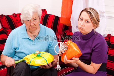 old and young woman get inappropriate