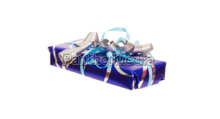 a colorful gift isolated on white