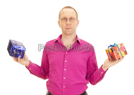 a business person juggling with two