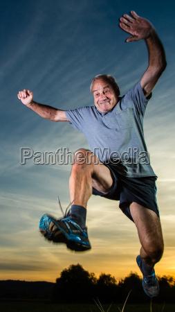 jumping senior