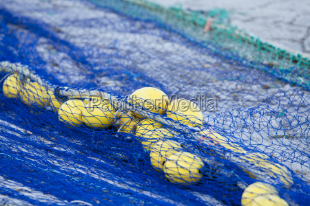 fishing net with ropes and ropes
