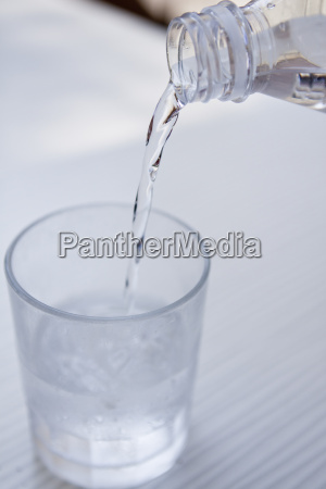 fresh cold clear water in a