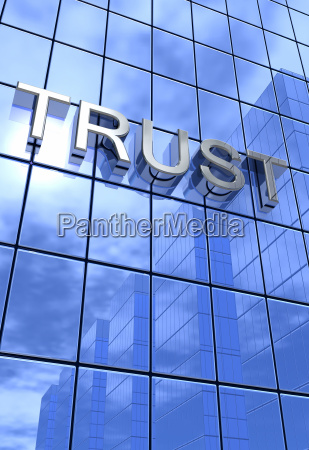 bank of trust silver blue