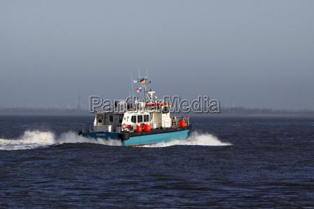 motor boat on the north sea