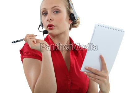 flirtatious call center worker