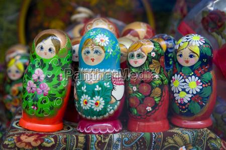 babushka or matrioshka russian dolls