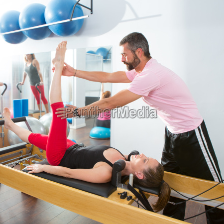 pilates aerobic personal trainer man in