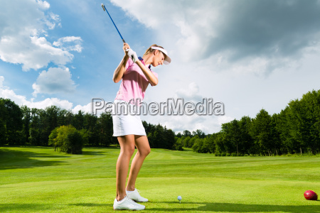 young golfer at the golf course