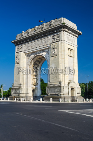 arch of triumph bucharest romania