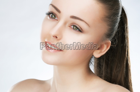 attractive beauty girl healthy skin natural