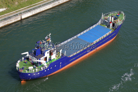cargo ship from the air