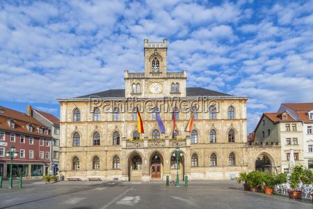 town hall weimar in germany unesco