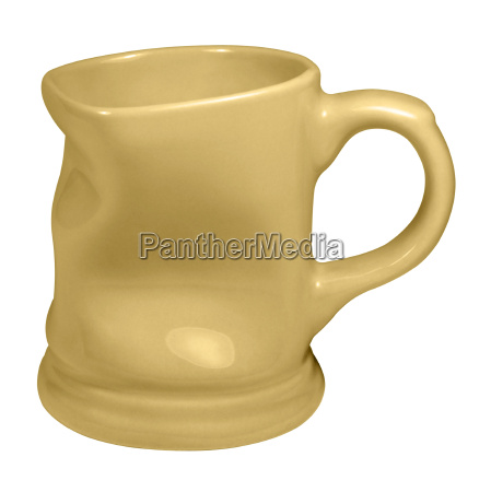 dented yellow cup