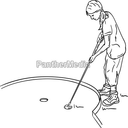 girl golf