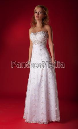 fashion model lovely female in bridal