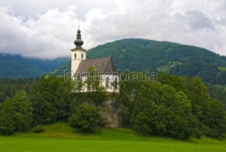 church tree trees alps austrians chapel