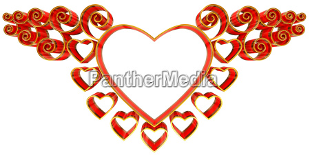 beautiful twisted frame with hearts and