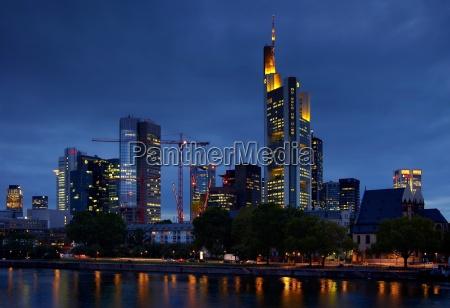 skyline frankfurt am main at the
