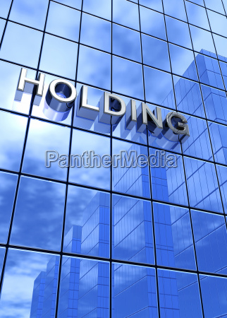 blue business concept holding