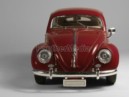 vw beetle model car front in