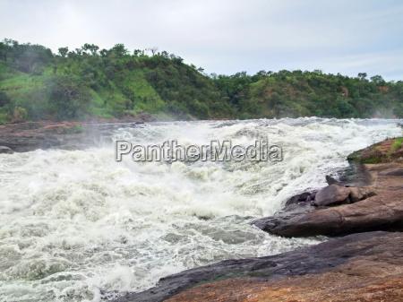 around murchison falls in uganda