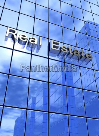 facades concept blue real estate